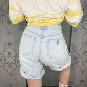 Vintage Guess Denim Shorts in a Classic Light Wash